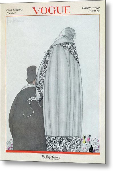 A Vogue Magazine Cover Of A Couple Metal Print
