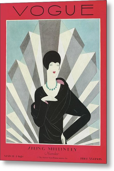 A Vogue Magazine Cover Of A Wealthy Woman Metal Print