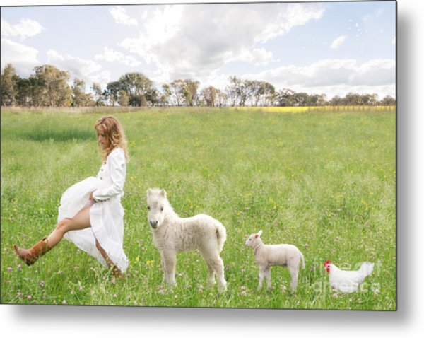 A Walk In The Country Metal Print