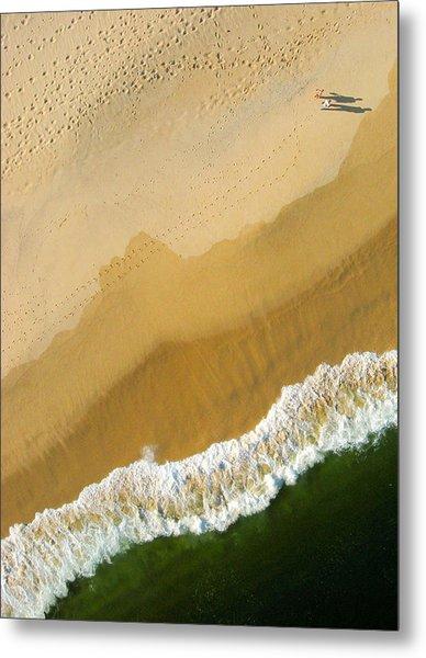 A Walk On The Beach. A Kite Aerial Photograph. Metal Print