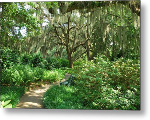 A Walk Through The Garden Metal Print