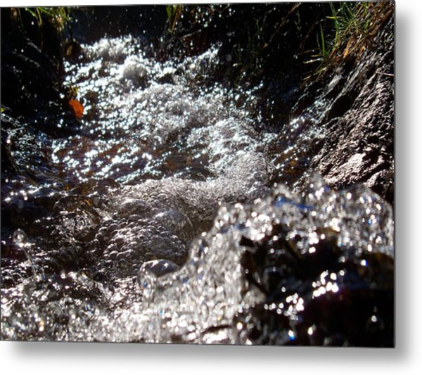 A Watery Dance Of Reflected Light Metal Print