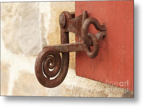 A Window Latch Metal Print