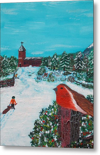 A Winter Scene Metal Print