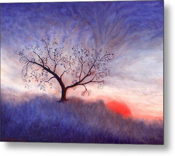 A Wintering Tree Metal Print