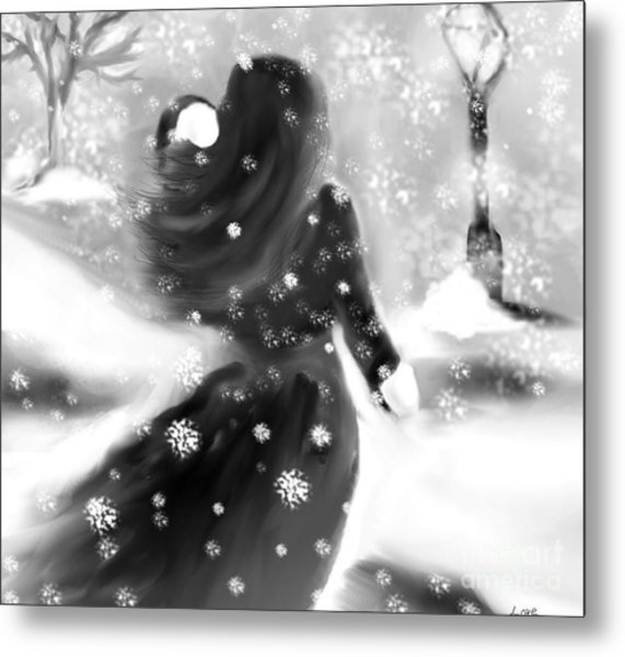 A Winters Walk Metal Print