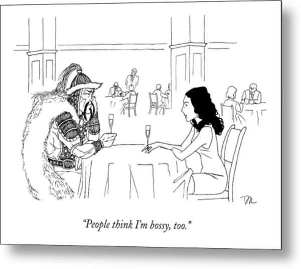 A Woman Has A Date With Ghengis Khan Metal Print