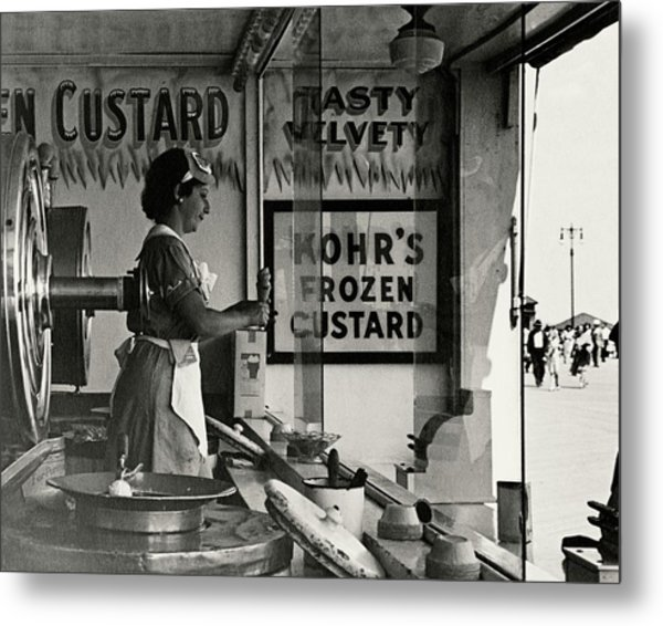 A Woman Selling Custard Metal Print by Lusha Nelson