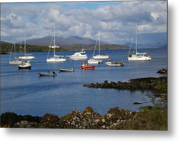A Yachting Haven Metal Print by Veron Miller