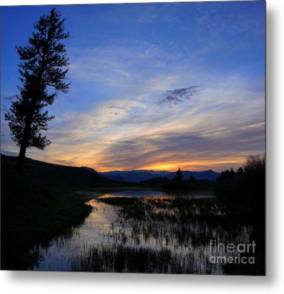 A Yellowstone Lake Before Sunrise Metal Print