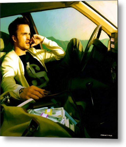 Aaron Paul Metal Print