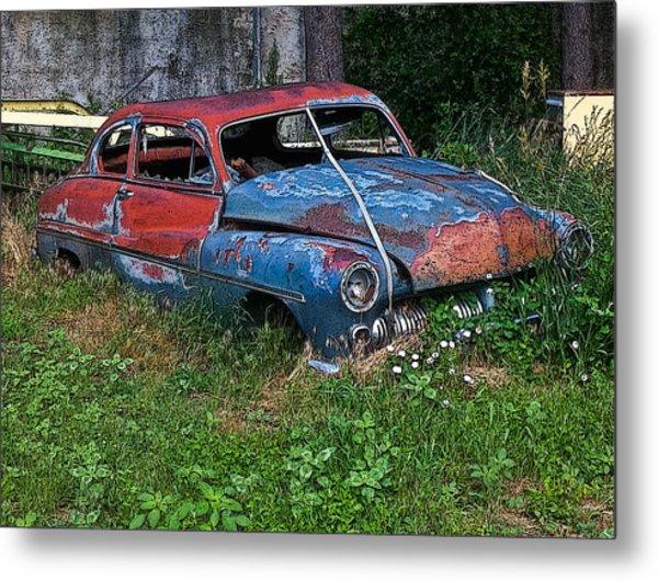 Abandoned 1950 Mercury Monteray Buick Metal Print