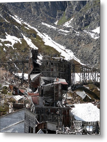 Abandoned Alaskan Gold Mine Metal Print