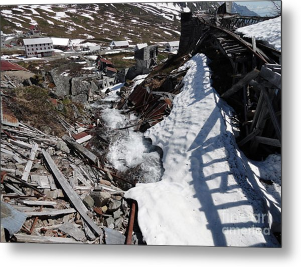 Abandoned Alaskan Gold Mine II Metal Print