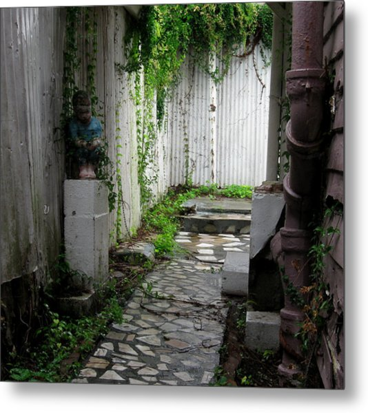 Abandoned Alley Metal Print