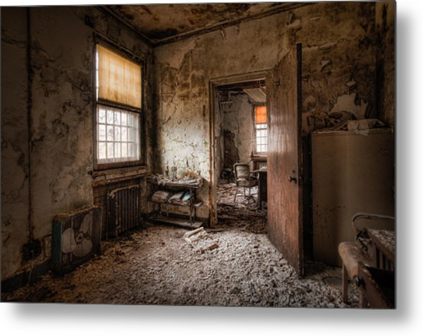 Metal Print featuring the photograph Abandoned Asylum - Haunting Images - What Once Was by Gary Heller
