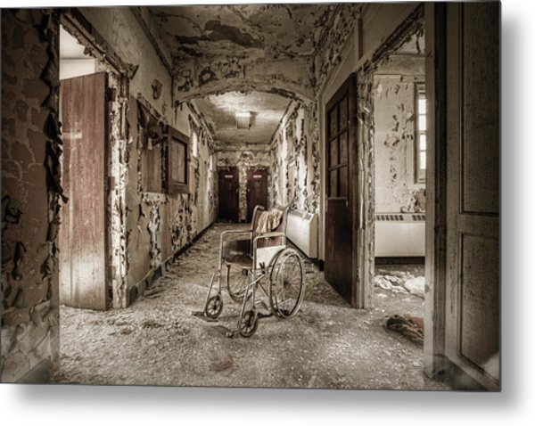 Metal Print featuring the photograph Abandoned Asylums - What Has Become by Gary Heller