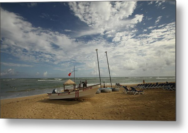 Abandoned Beach Metal Print