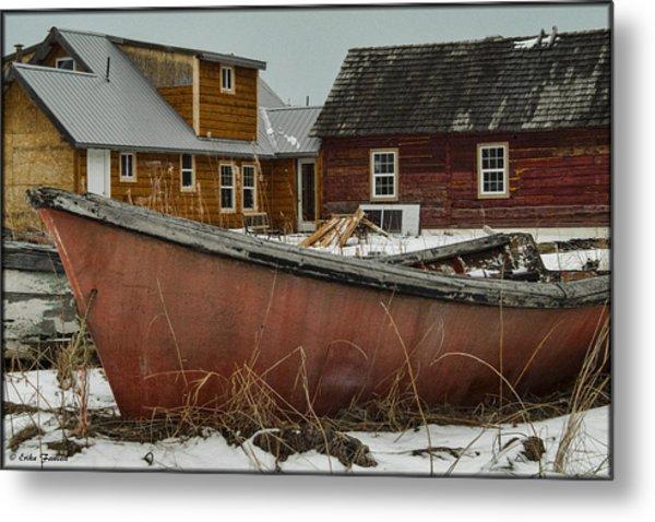 Abandoned Boat Metal Print