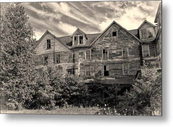 Abandoned But Awesome Metal Print