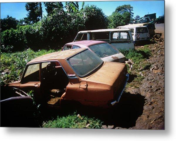 Abandoned Cars Metal Print