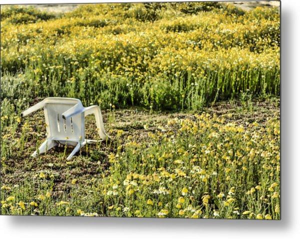 Abandoned Chair Metal Print