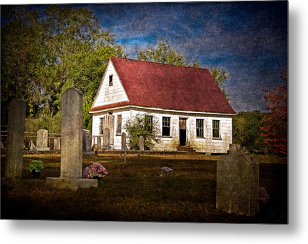Abandoned Church And Graves Metal Print