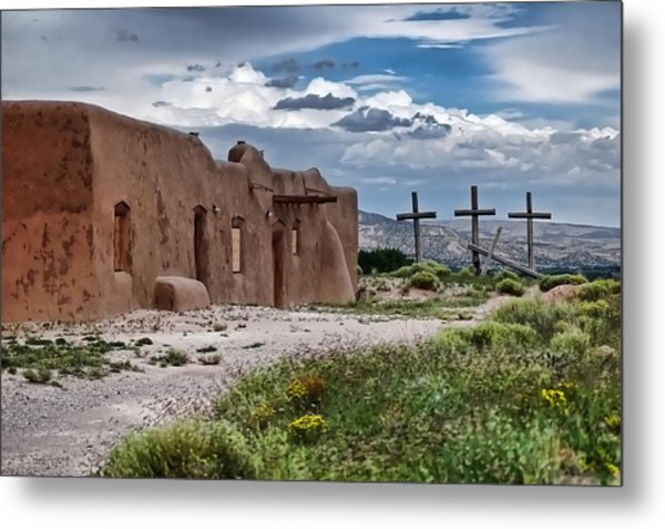 Abandoned Church In Abiquiu New Mexico Metal Print