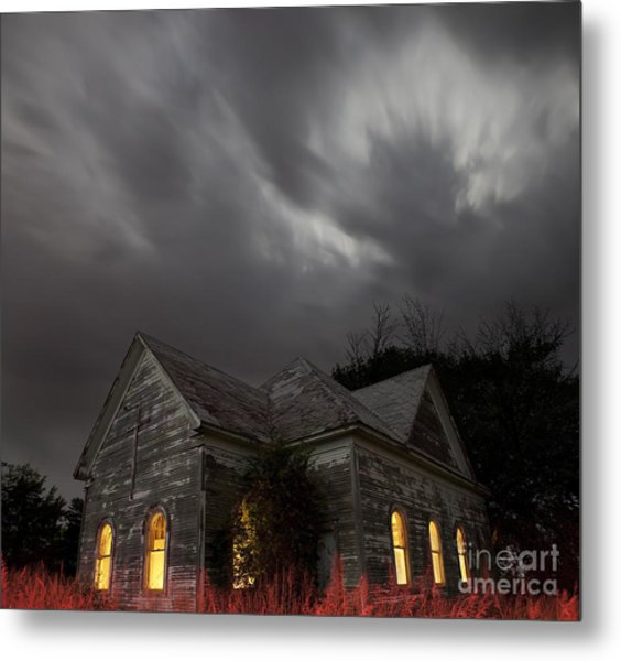 Abandoned Church Of Walters Oklahoma Metal Print
