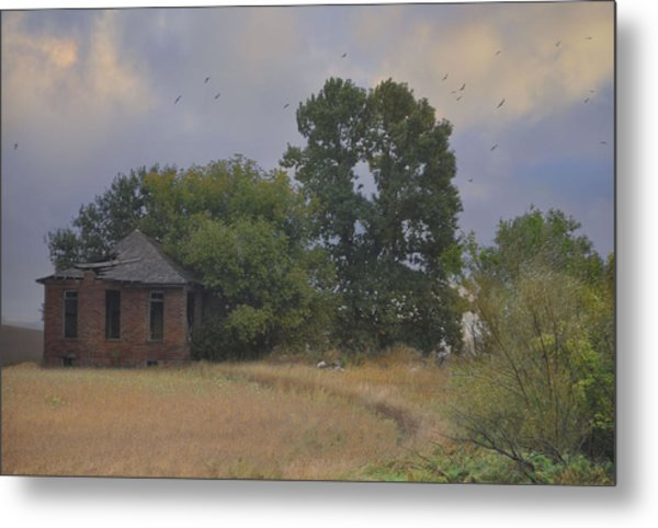 Abandoned Country House In Rural Northwest Iowa Metal Print