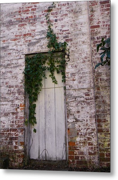 Abandoned Door Metal Print by Warren Thompson
