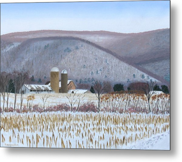 Abandoned Farm In The Mountain's Shadow Metal Print