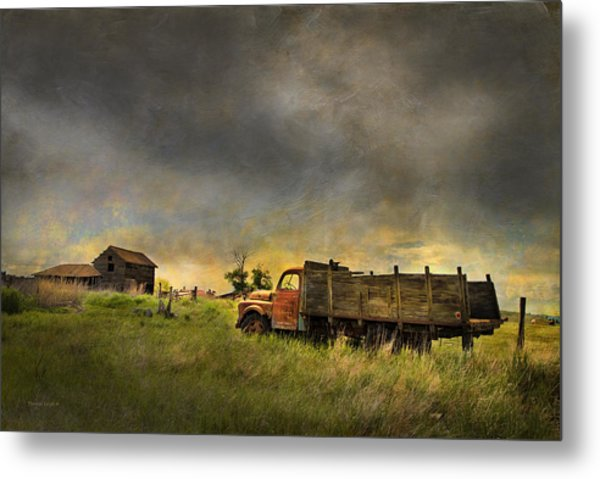 Abandoned Farm Truck Metal Print