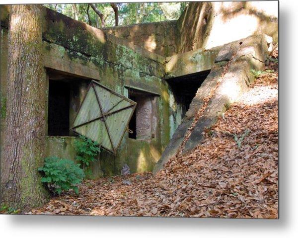 Abandoned Halls Metal Print