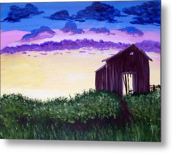 Abandoned In The Evening Metal Print by Joy Gilley