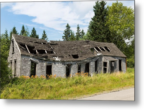 Metal Print featuring the photograph Abandoned by John M Bailey