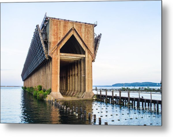 Abandoned Ore Dock Marquette Michigan Metal Print