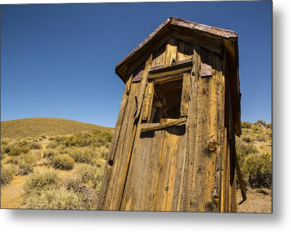 Abandoned Outhouse Metal Print
