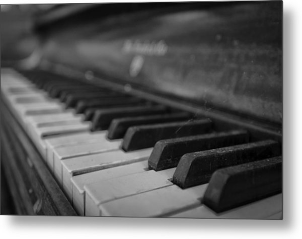 Abandoned Piano Metal Print