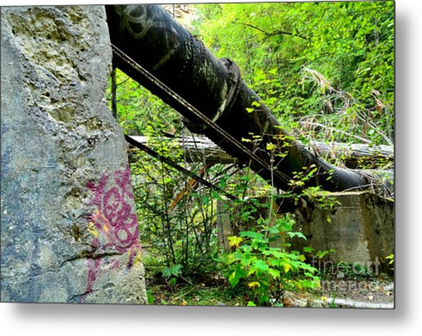 Abandoned Pipeline I Metal Print by Phil Dionne