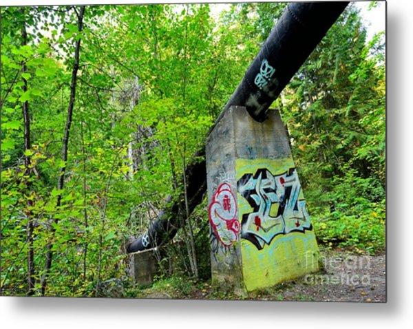 Abandoned Pipeline II Metal Print by Phil Dionne