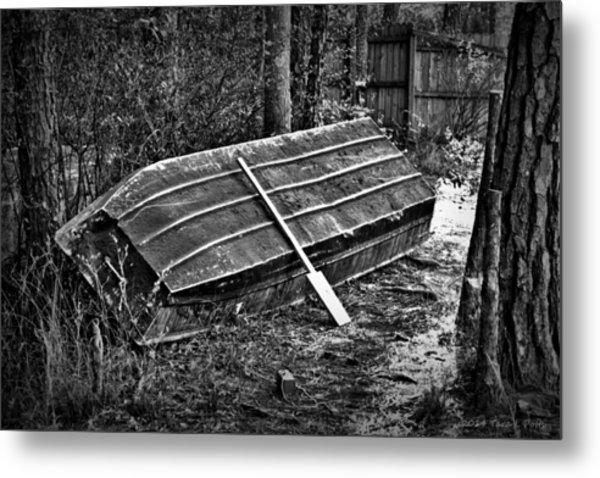 Abandoned Rowboat Metal Print