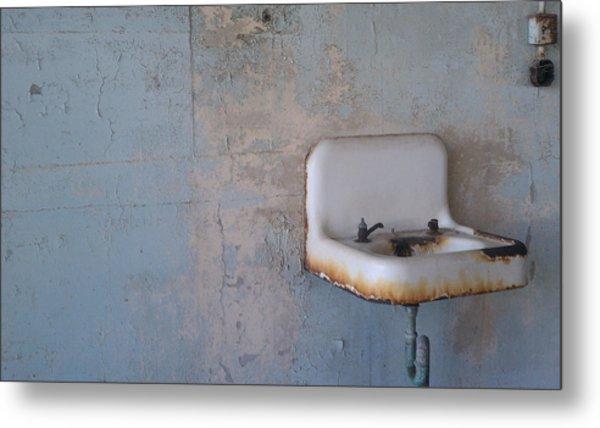 Abandoned Sink Metal Print