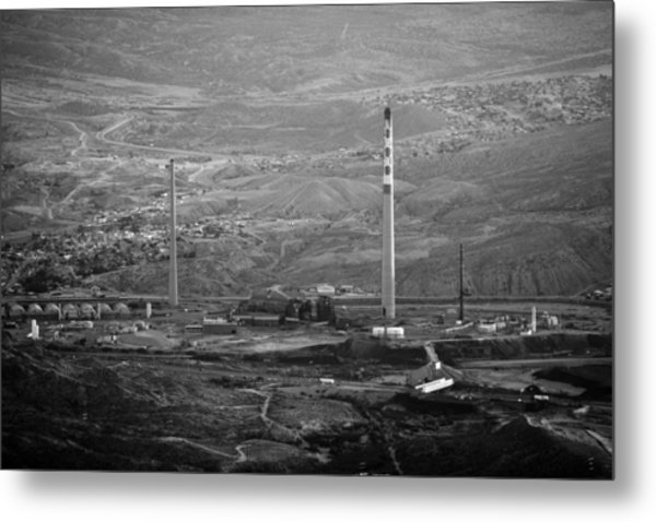 Abandoned Smokestacks Metal Print