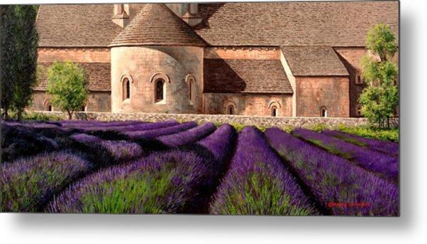 Abbey Lavender Metal Print by Michael Swanson