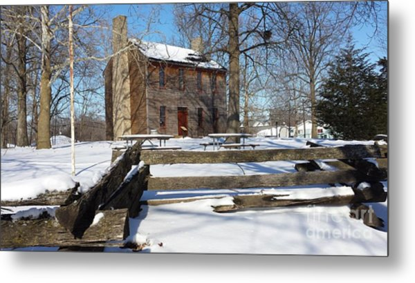 Abe Lincoln's Postville Courthouse Metal Print