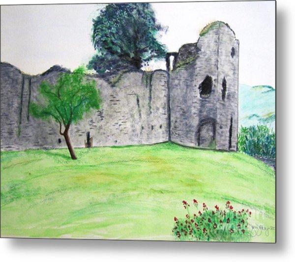 Abergavenny Castle Metal Print