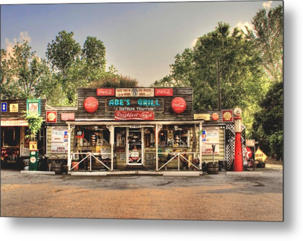 Abe's Grill - Fine Southern Food Metal Print