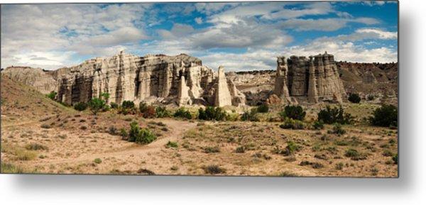Abiquiu New Mexico Plaza Blanca In Technicolor Metal Print