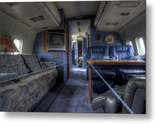 Aboard Air Force Two Metal Print